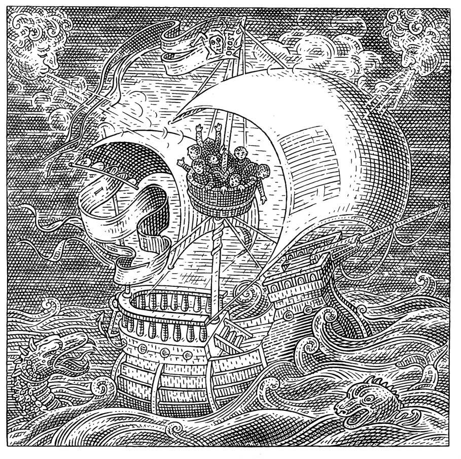 skull orosz illusion optical istvan illusions istvan ship hidden fools april comments face